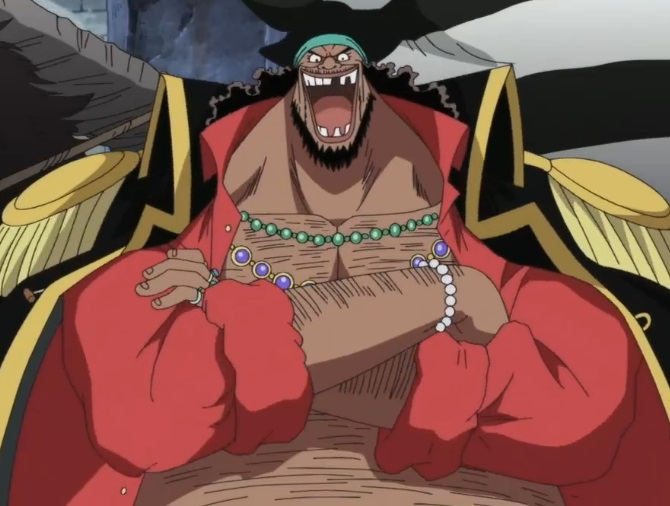 Barba nera anime one piece